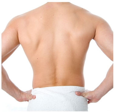 Back treatment for men